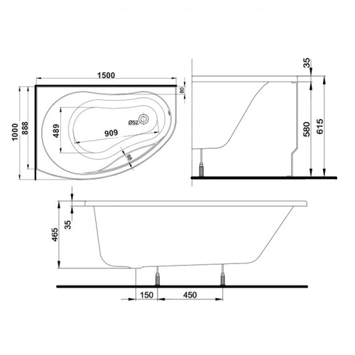Ванна Kolo Promise 150x100 см левая левая