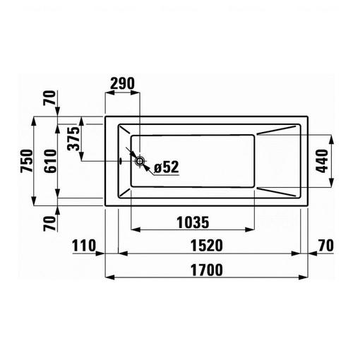 Ванна Laufen Pro 170 (H2319510000001)