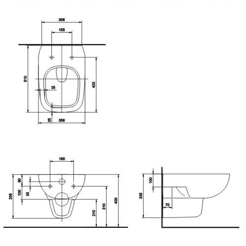 Унитаз подвесной Kolo Style Rimfree с сидением (L23120000 + L20112000)