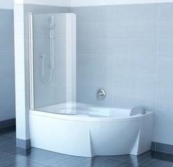Штора для ванны Ravak CVSK1 Rosa 140/150, Transparent алюминий