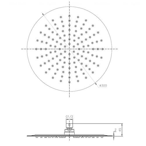 Верхний душ Imprese Ø 300 мм (S250SS6)