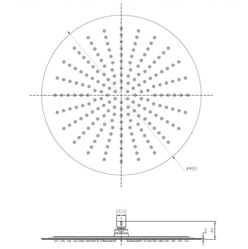 Верхний душ Imprese Ø 400 мм (S400SS2)