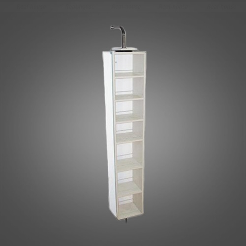 Пенал зеркальный крутящийся Fancy Marble SCMR (ПЗ-3К) 27 см белый белый