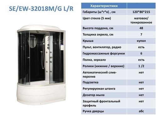 Гидромассажный бокс Serena EW-32018M/G L/R