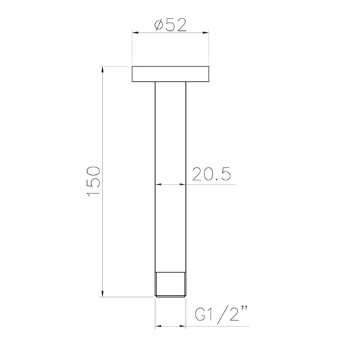 Кронштейн для верхнего душа Imprese 150 мм (SH01-150)