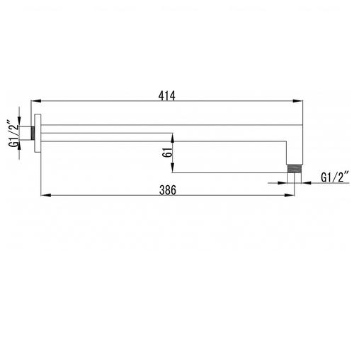 Кронштейн для верхнего душа Imprese 386 мм (SQH01-390)