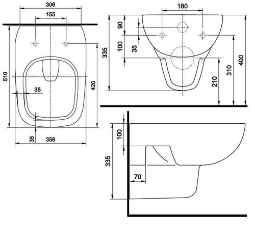 Унитаз подвесной Kolo Style  обычное покрытие обычное покрытие