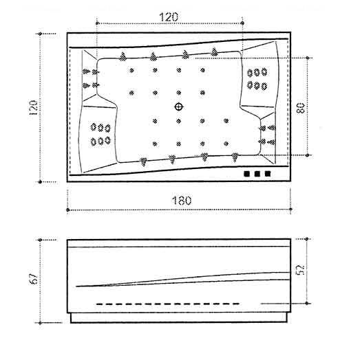 Ванна Balteco Scala 1790 мм простая (S1) простая (S1)