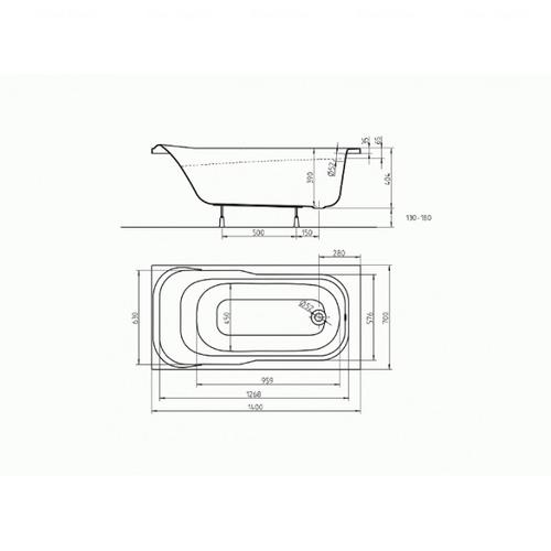 Ванна Kolo Sensa 140х70 (XWP354000N )
