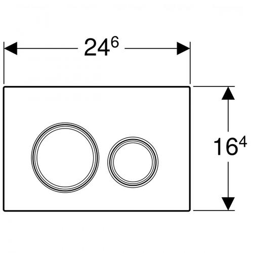 Кнопка смыва Geberit Sigma 21, стекло песочное песочное