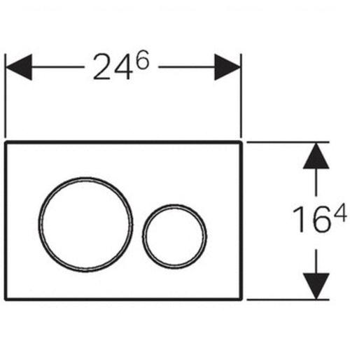 Кнопка смыва Geberit Sigma 30 (115.889.SN.1)
