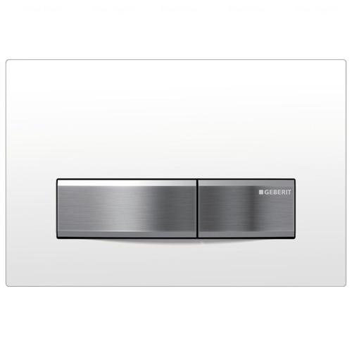Кнопка смыва Geberit Sigma 50, металл/пластик белый белый