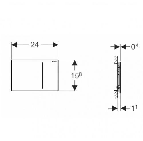 Кнопка смыва Geberit Sigma 70, для Sigma бачков 8 см, нержавеющая сталь