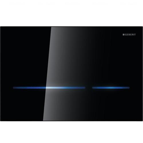 Кнопка смыва сенсорная Geberit Sigma 80, стекло черное черное