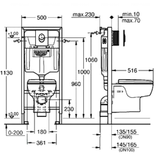 Комплект Grohe Solido Perfect 4в1 (39191000)