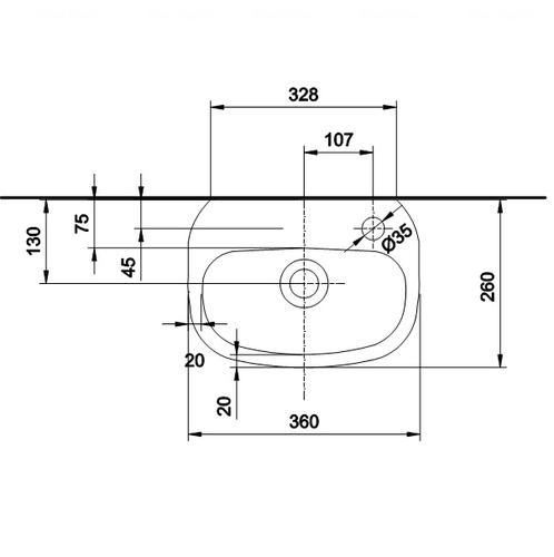 Умывальник Kolo Style 36 обычное покрытие обычное покрытие