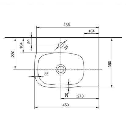Умывальник Kolo Style 45 обычное покрытие обычное покрытие