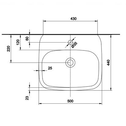 Умывальник Kolo Style 50 обычное покрытие обычное покрытие