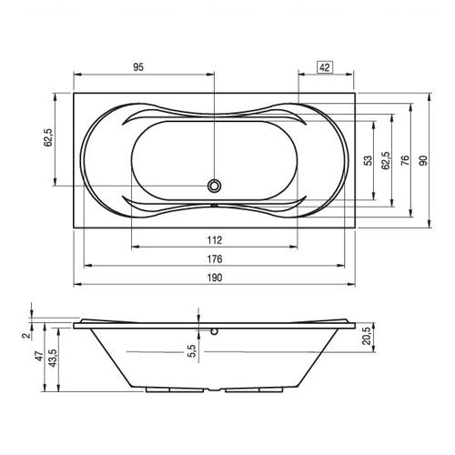 Ванна Riho Supreme 190x80 (BA5800500000000)