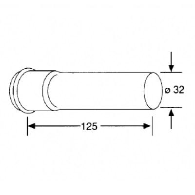 Удлинительная труба Kludi (1049905-00)