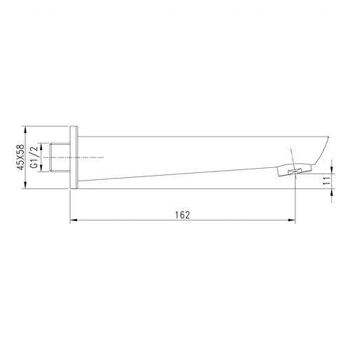 Излив для ванны Imprese Breclav 162 мм (VR-11245) хром хром