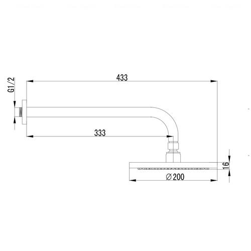 Верхний душ Imprese Jesenik Ø 200 мм (VR-10140(S)