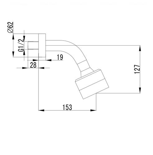 Верхний душ Imprese Krinice Ø100 (VR-15110(S)