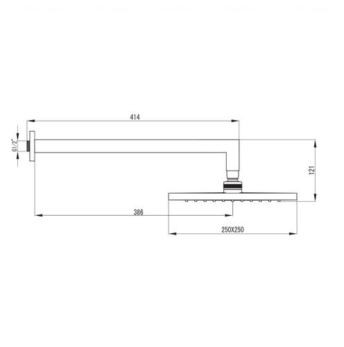Верхний душ Imprese Valtice 250 мм (VR-15320(S)