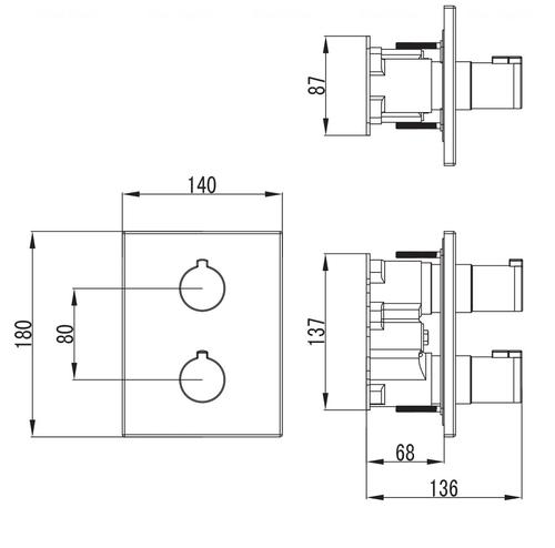 Смеситель-термостат для ванны Imprese Centrum VRB-10400Z