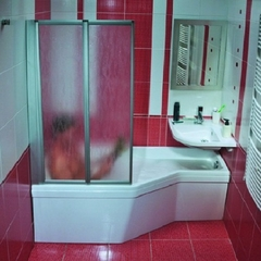 Штора для ванны Ravak VS2 105, профиль сатин