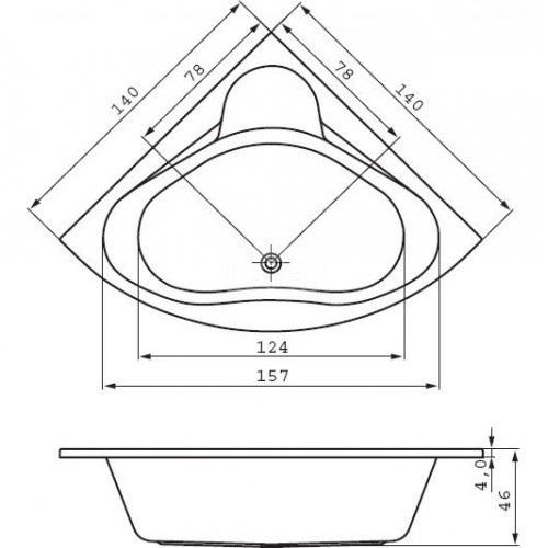 Ванна Cersanit VENUS 140x140