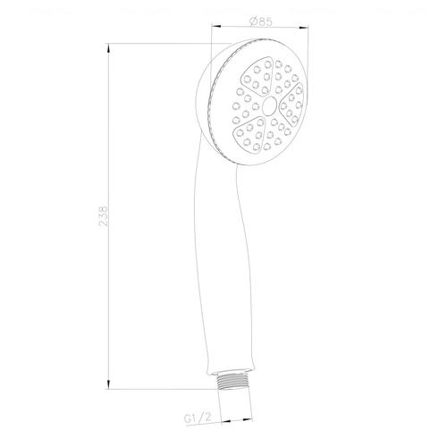 Ручной душ Imprese 1S (W085R1)