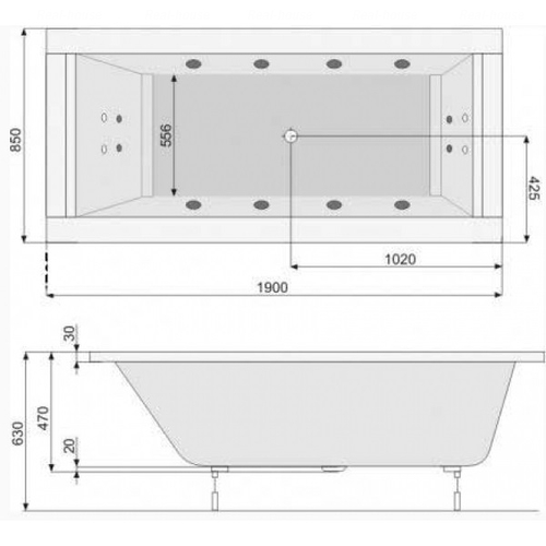 Ванна Pool Spa Windsor 190 (PWPNN10ZN000000)