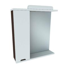 Зеркальный шкафчик Леос Бянка Z1-60, белый/венге
