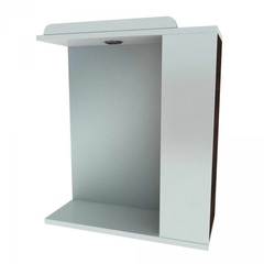 Зеркальный шкафчик Леос Мишель Z1-60, белый/венге