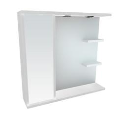 Зеркальный шкафчик Леос Мишель Z2-80, белый