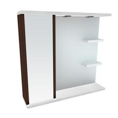 Зеркальный шкафчик Леос Мишель Z2-80, белый/венге