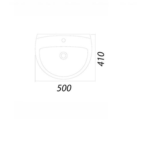 Умывальник Colombo Акцент 50 (S12215000)