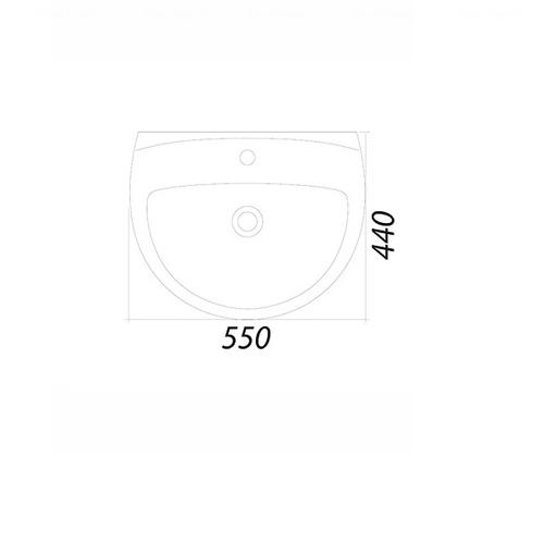 Умывальник Colombo Акцент 55 (S12115500)