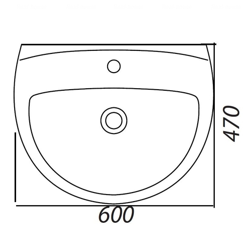 Умывальник Colombo Акцент 60 (S12116000)
