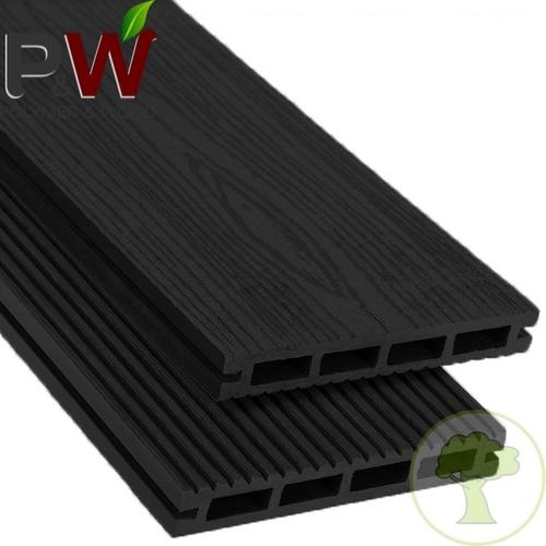 Террасная доска PolymerWood Privat Антрацит 2200х140х20 мм