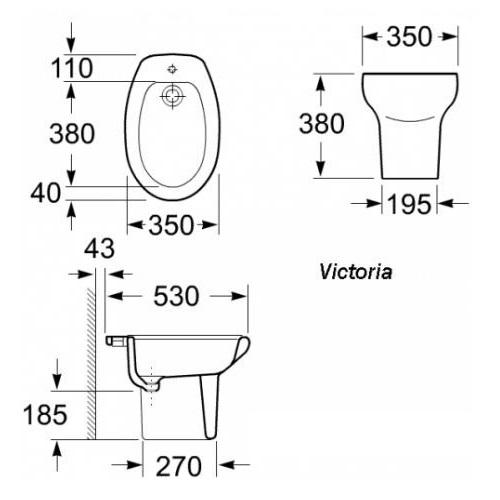 Биде напольное Roca Victoria (A355394003)