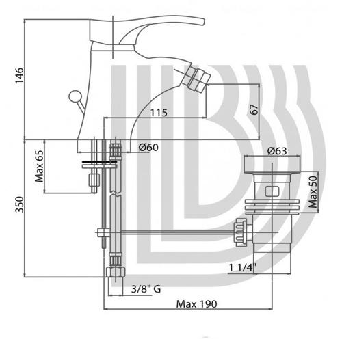 Смеситель для биде Bianchi Mercury (BIDMER20030ACRM)