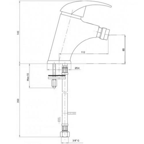 Смеситель для биде Bianchi Pocket (BIDPKT2003SACRM)