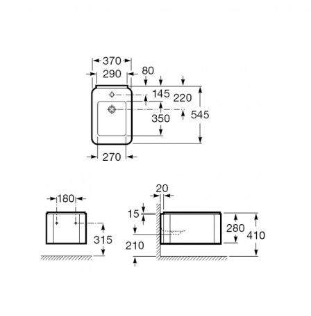 Биде подвесное Roca Element A357575000