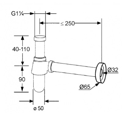 Сифон бутылочный Kludi (1010505-00)