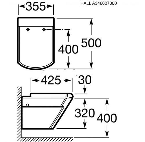 Унитаз подвесной Roca Hall (A346627000)