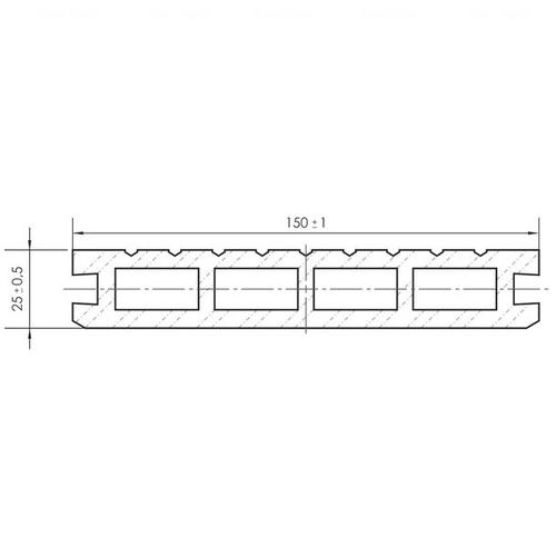 Террасная доска PolymerWood Premium Антрацит 2200х150х25 мм