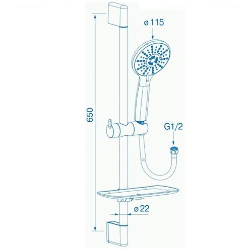 Набор смесителей для душа Koller Pool Kvadro KR0200+KR0450+KR020