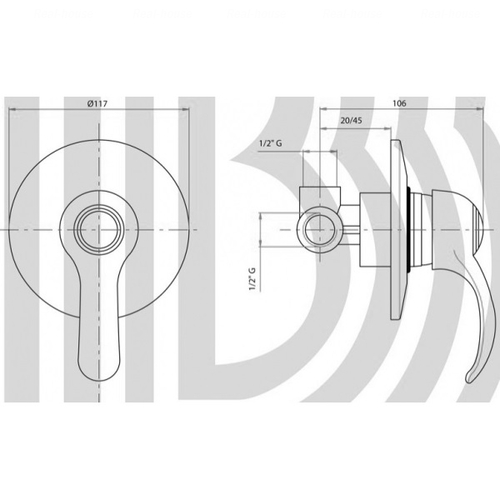 Смеситель для душа Bianchi Star (INDSTR200700CRM)